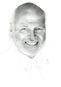 Illustration of Ross Pitman