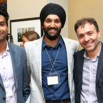 Rahul Udasi, Manmeet Maggu and Joseph Orozoco of The Entrepreneurship Hatchery.