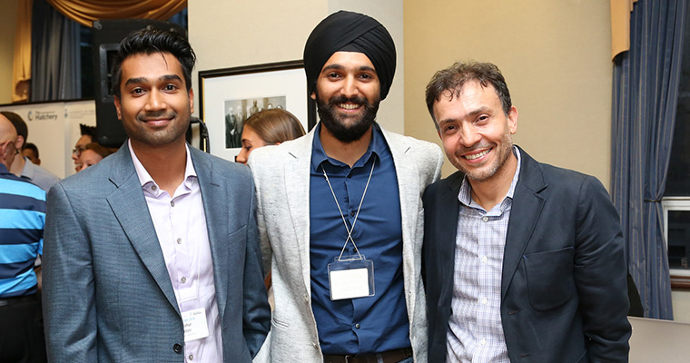 Rahul Udasi, Manmeet Maggu and Joseph Orozoco of The Entrepreneurship Hatchery.