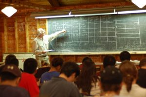 classroom at survey camp
