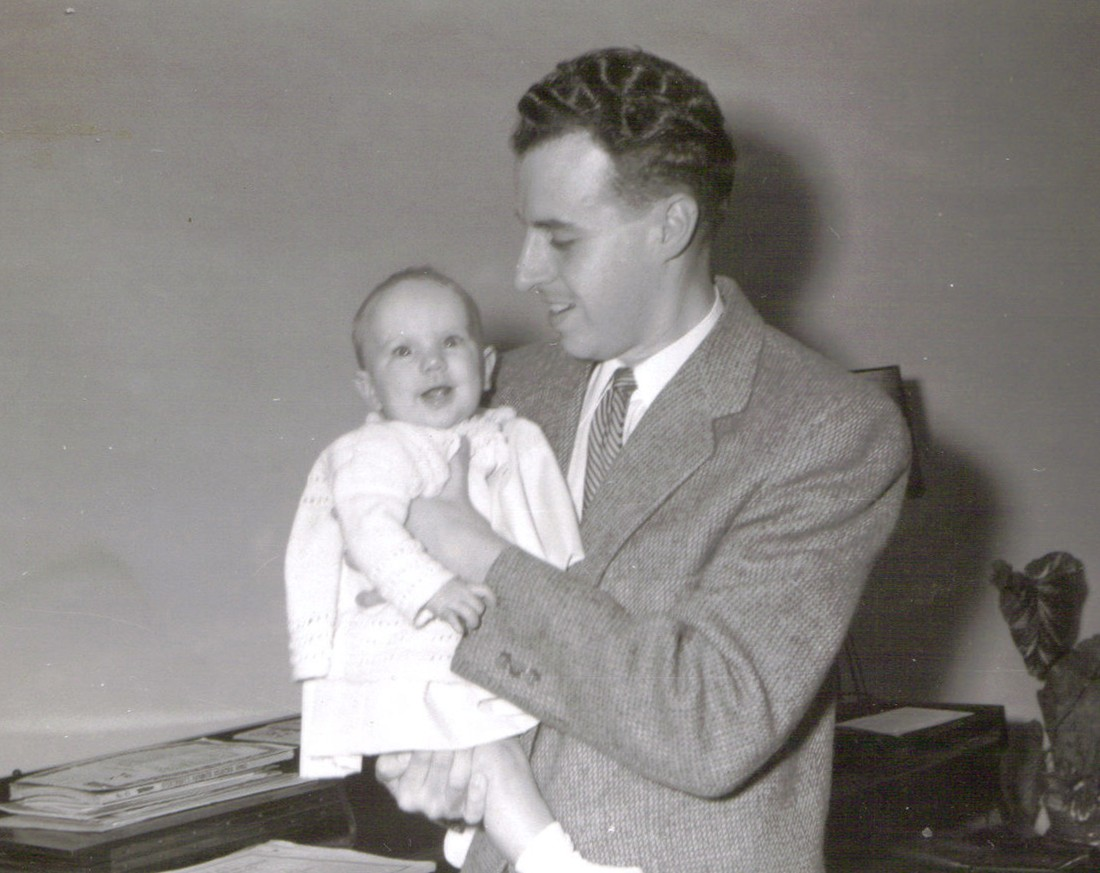 DAD AND ANNE BABY