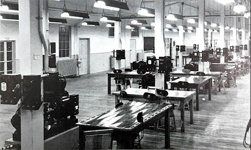 In a building that was originally part of the Ajax wartime shell filling plant, the University of Toronto had its Electrical Lab.